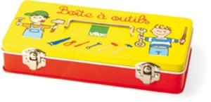 Boite à outils pour enfant en métal - Jouet d'imitation en métal Vilac