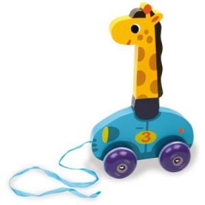 Jouet à tirer en bois Léonie La Girafe - Idée de jouet pour bébé en bois