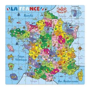 Puzzle Carte de France - Puzzle en bois pour enfant de 144 pièces