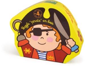 Puzzle pirate en bois - Puzzle pour enfant en bois 49 pièces - Vilac