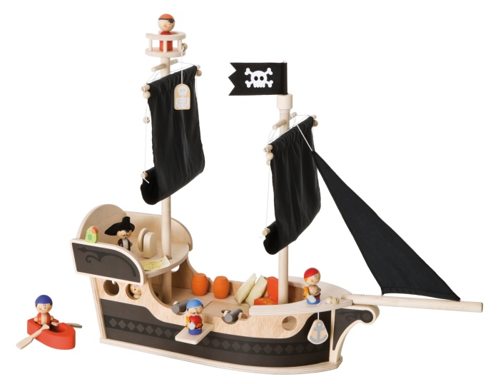BBateau Pirate avec figurines et accessoires en bois - Sévi