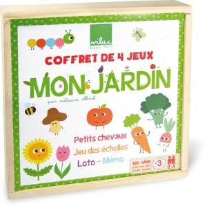 Coffret de jeux de société en bois Mon Jardin par Mélusine Allirol - Jeu Vilac