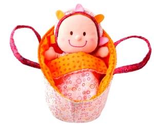 Poupée en tissu Bébé Eline dans son couffin - Jouet Lilliputiens