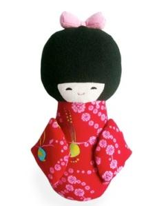 Petite poupée Kokeshi en coton bio - Poupée Elodie Details