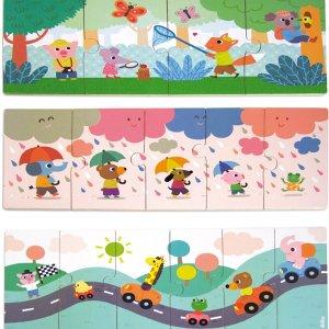 Coffret de trois puzzles évolutifs en bois - Par Mélusine Allirol