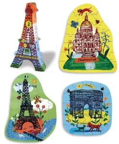 Puzzles Nathalie Lété Monuments de Paris