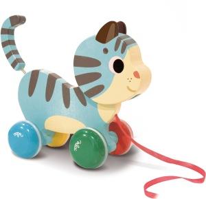 jouet-a-tirer-en-bois-chat-vilac