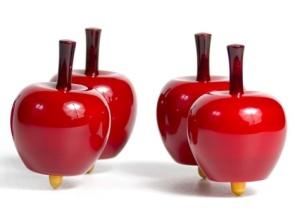 Toupie en bois en forme de pomme - Toupie pomme Londji