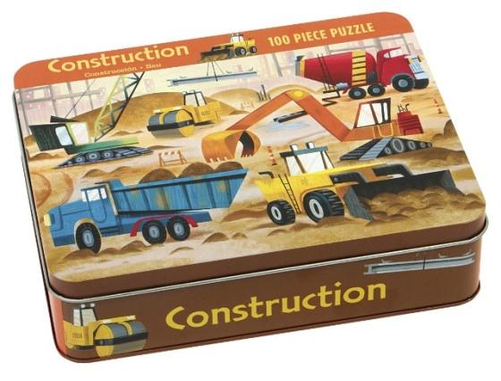 Puzzle pour enfant Les engins de chantier - Puzzle de 100 pièces