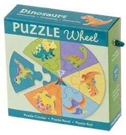 Puzzle dinosaure - Puzzle rond - Puzzle 7 pièces - Puzzle Mudpuppy