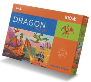 Puzzle dragons - Puzzle 100 pièces avec poster - Puzzle Crocodile Creek