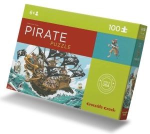 Puzzle pirates - Puzzle 100 pièces avec poster - Puzzle Crocodile Creek