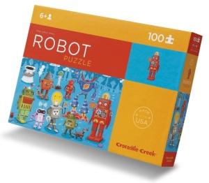 Puzzle robot - Puzzle 100 pièces avec poster - Puzzle Crocodile Creek