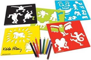 Pochoir enfant créatif sur l'artiste américain Keith Haring