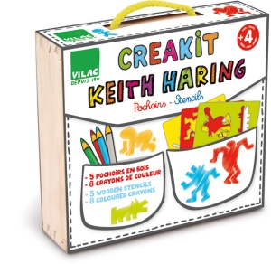 Pochoir enfant Keith Haring
