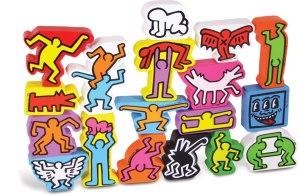 Jeu d'équilibre en bois Keith Haring