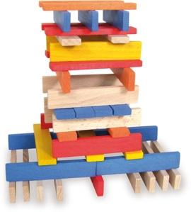 Jeu de construction en bois - 100 planchettes en bois - Jouet en bois Vilac
