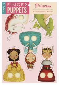 Marionnettes à doigts en carton Princesses - Mudpuppy