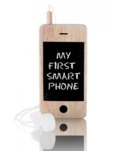 Mon premier Smartphone - Ardoise avec craie et éponges