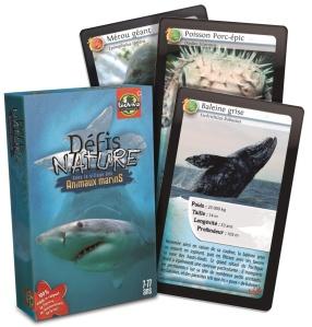 Jeu de Cartes Défi Nature à la Rencontre des Animaux Marins - Jeu Bioviva