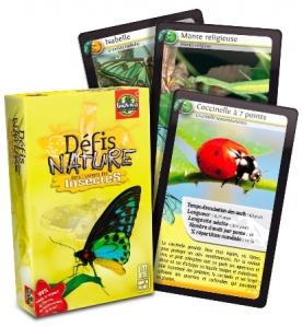 Jeu de cartes Défis Nature Les insectes - Jeu défi nature Bioviva