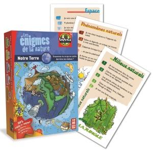 Jeu de cartes à énigmes Les énigmes de la nature - Notre Terre - Jeu Bioviva
