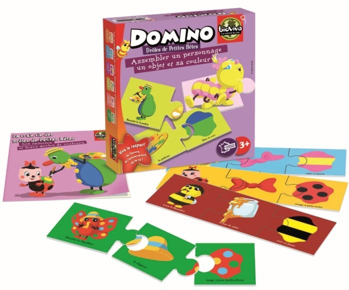 Domino pour enfant Drôles de Petites Bêtes - Jeu Bioviva