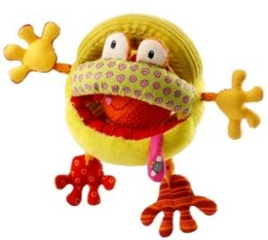 Hochet bébé Lilliputiens Roméo le crapaud - Hochet en tissu avec balle
