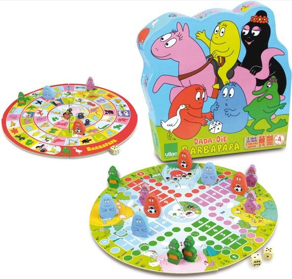 Coffret de jeux en bois Barbapapa (jeu de l'oie et petits chevaux) - Vilac