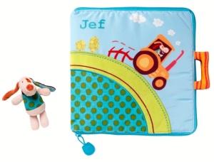 Livre en tissu pour bébé Jef à la ferme - Livre Lilliputiens