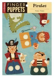 Marionnettes à doigts en carton Pirates - Mudpuppy