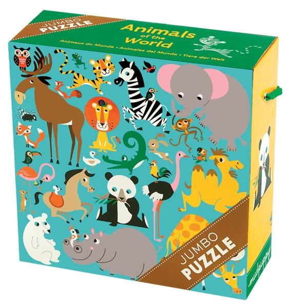 Puzzle animaux du monde de 25 pièces - Mupuppy