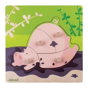 Puzzle à encastrement Cochon - Janod