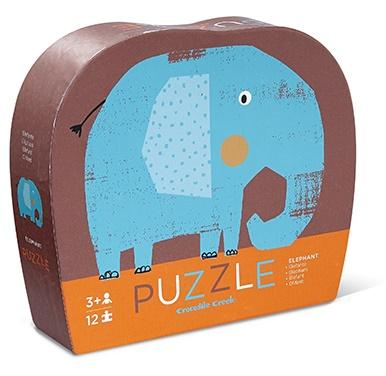 Puzzle éléphant de 12 pièces - Crocodile creek