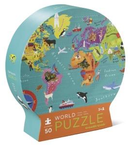 Puzzle Monde de 50 pièces - Crocodile creek