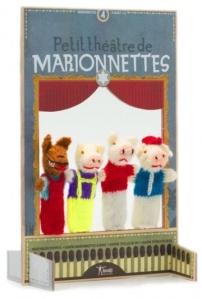 Petit théatre de marionnettes à doigt Les trois petits Cochons