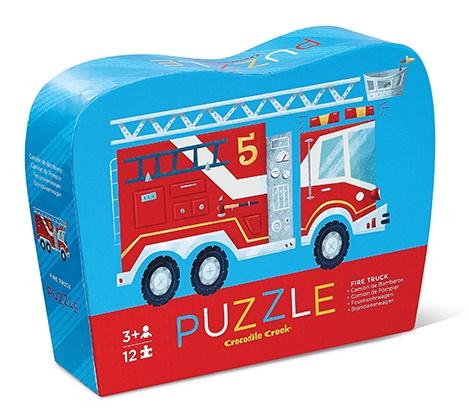 Puzzle Camion de Pompier - Puzzle de 12 pièces - Crocodile Creek