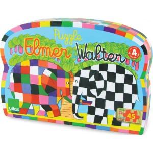 Puzzle Elmer et Walter de 45 pièces - Vilac