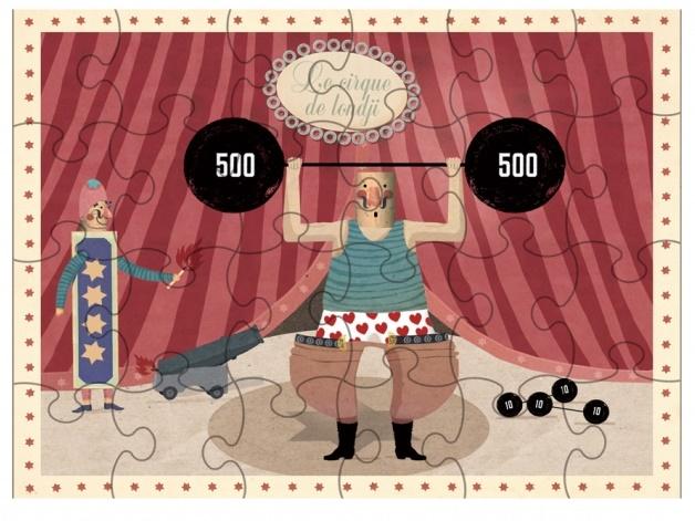 Puzzle Cirque - L'Homme Musclé - 24 pièces - Londji