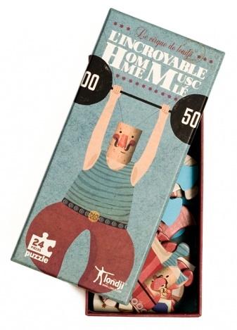 Boite du puzzle L'incroyable Homme Musclé - Puzzle de 24 pièces - Londji