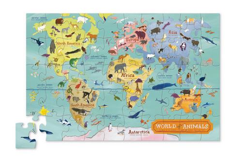 Puzzle Animaux du monde - 200 pièces - Crocodile Creek