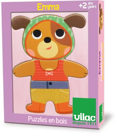 Jeu de puzzle Emma à habiller - Jeu en bois Vilac - A partir de 2 ans