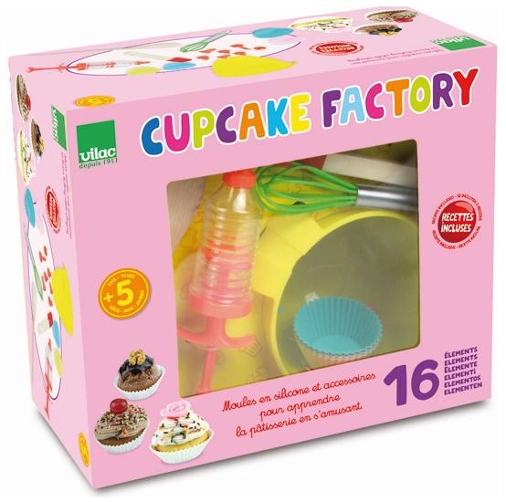 loisir cr atif pour enfant kit p tisserie cupcake factory vilac guide du jouet pour enfant. Black Bedroom Furniture Sets. Home Design Ideas