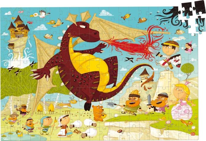 Puzzle Chevalier en bois - Puzzle de 200 pièces Vilac