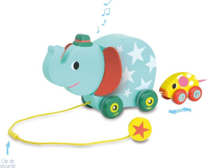 jouet pour b b l l phant et la souris musicale promener vilac guide du jouet pour enfant. Black Bedroom Furniture Sets. Home Design Ideas