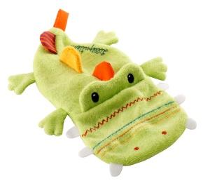Livre de bain pour bébé avec gant de toilette Crocodile - Lilliputiens