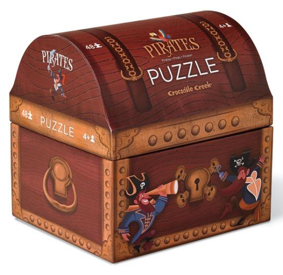 Puzzle pirate de 48 pièces - Crocodile Creek