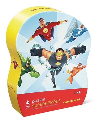 Puzzle Super Héros de 72 pièces - Crocodile Creek